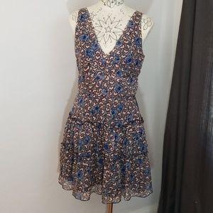 Anna Sui Silk Heart Print Dress